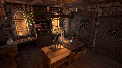 Virtual reality alchemy lab