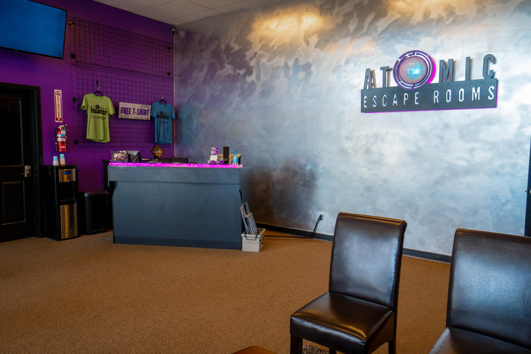 Lobby of escape room business